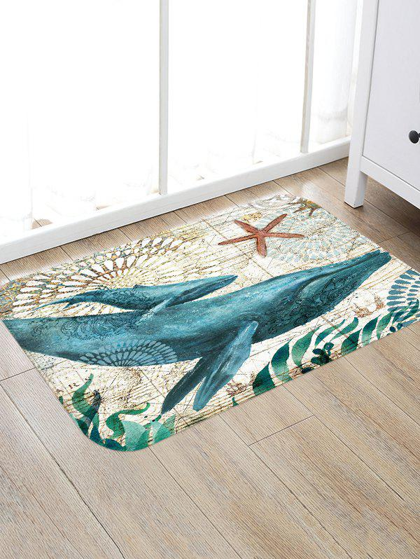 Discount Whale Printed Decorative Floor Mat