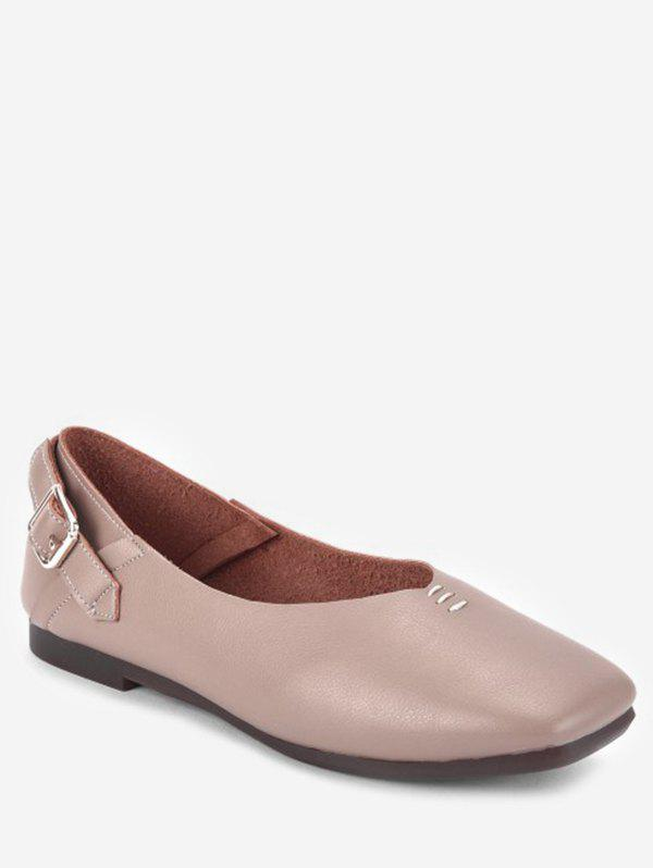 Cheap Square Toe Buckle Slip On Shoes