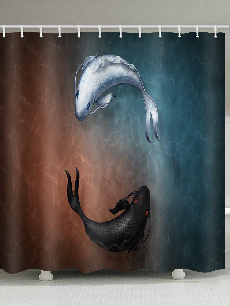 Buy Fishes Print Shower Curtain