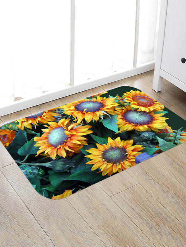 New Sunflower Pattern Decorative Floor Mat