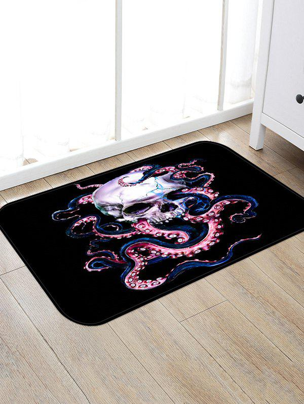 Outfit Octopus Skull Printed Decorative Floor Mat