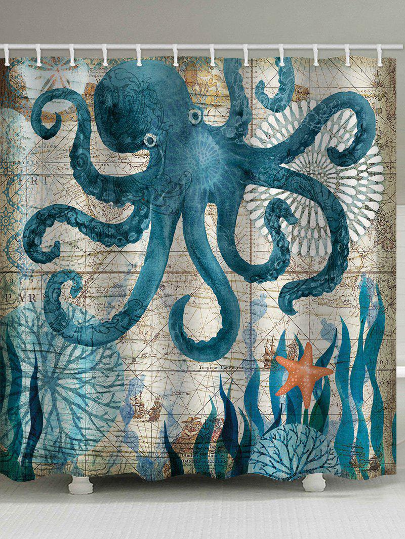 Outfits Octopus Starfish Print Shower Curtain
