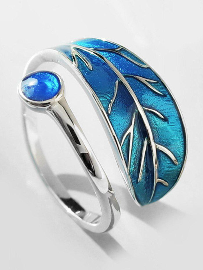 Store Personalized Artificial Sapphire Ring Of Leaf