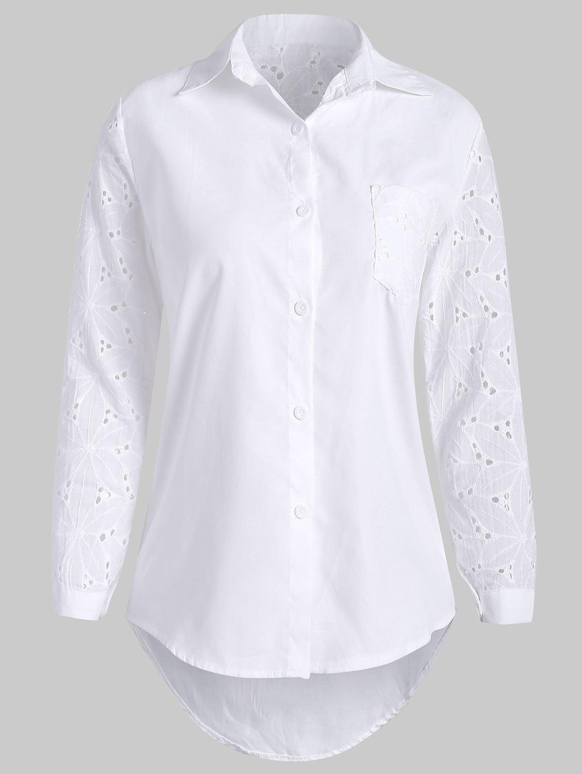 Outfit Embroidered Eyelets Shirt