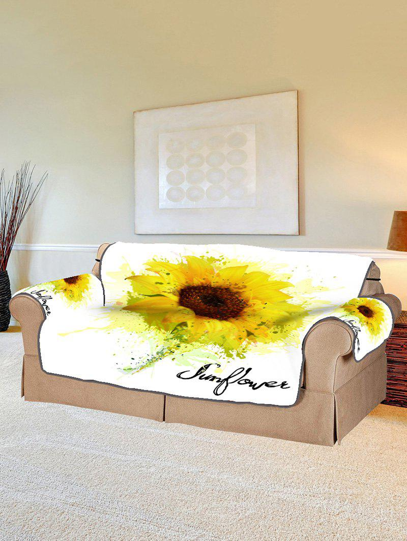 Sale Sunflower Print Couch Cover