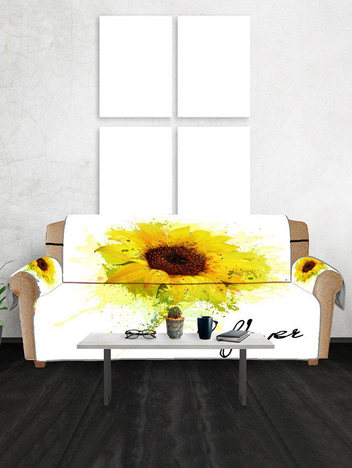 New Sunflower Print Couch Cover