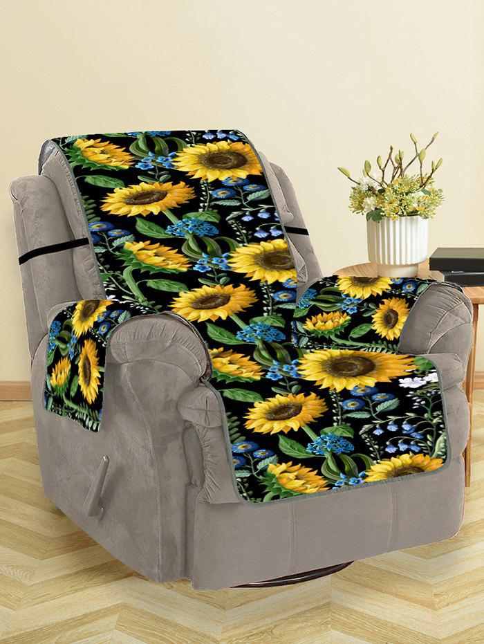 Outfit Sunflower Leaf Pattern Couch Cover