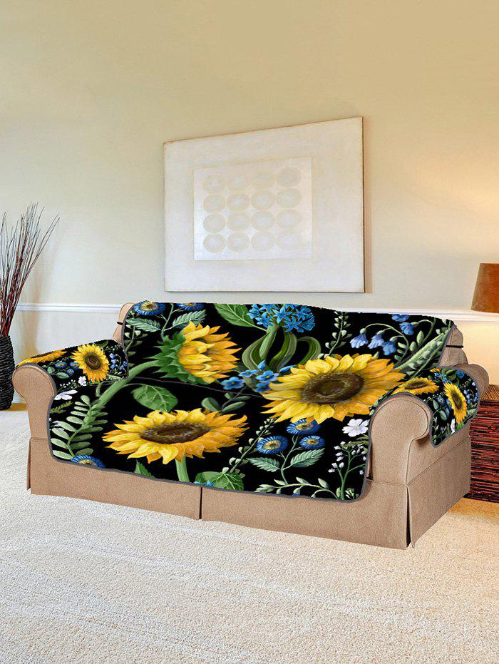 Sale Sunflower Leaf Pattern Couch Cover