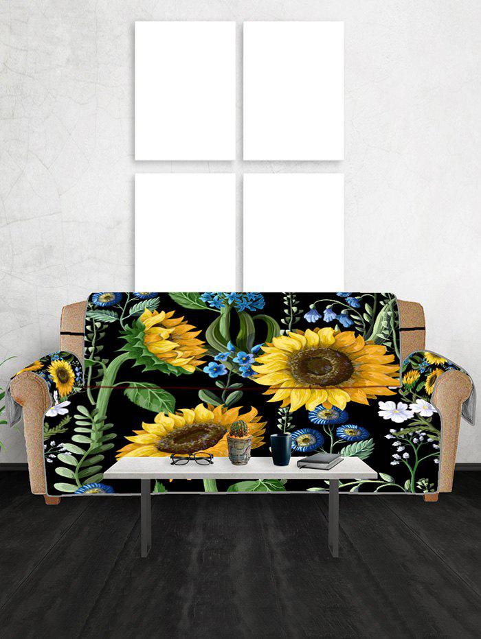 Unique Sunflower Leaf Pattern Couch Cover