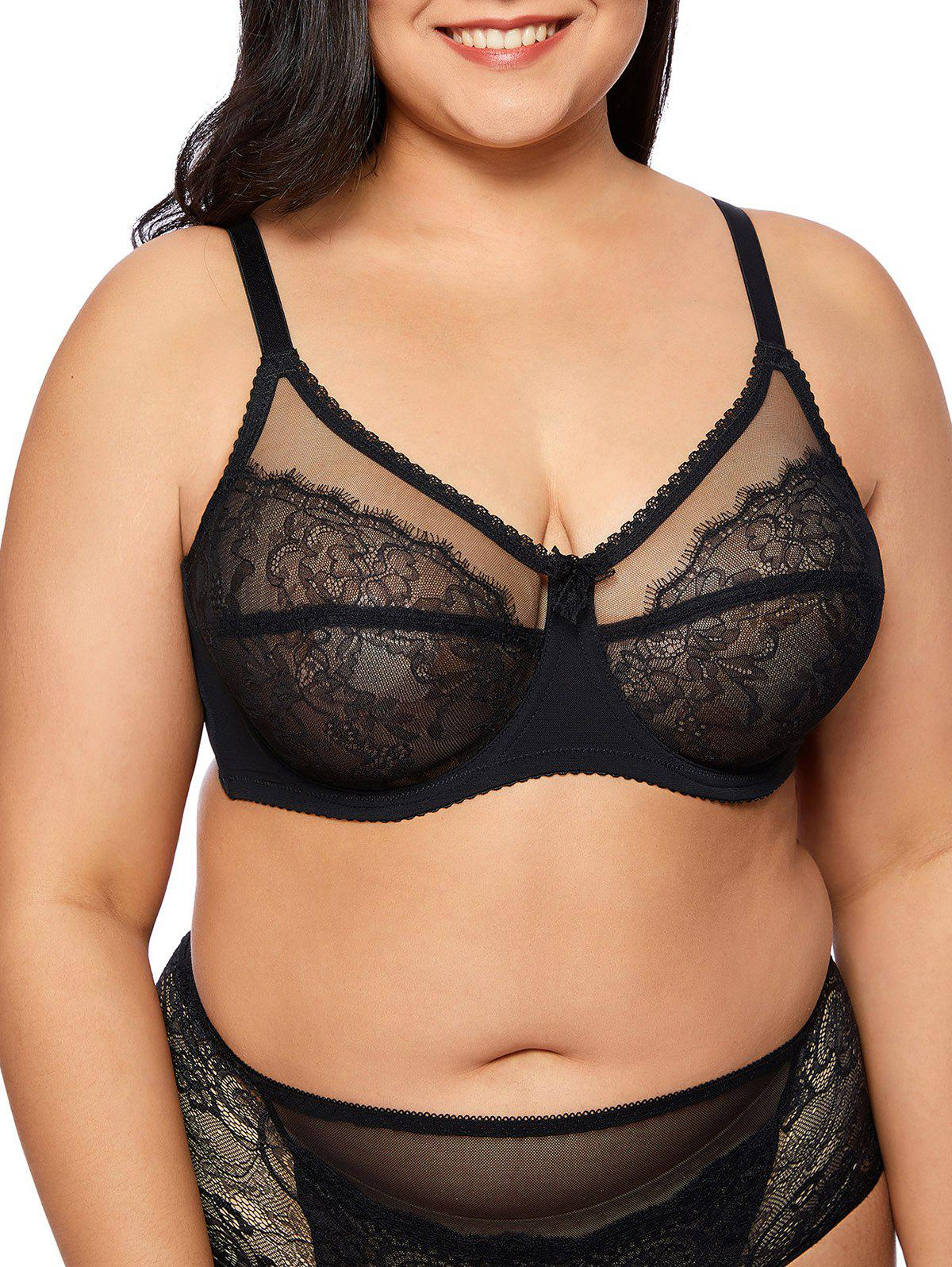Outfits Plus Size Unlined Lace Underwire Bra