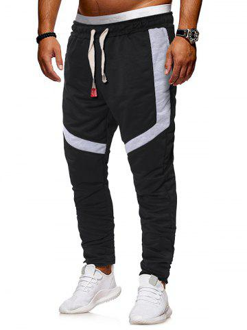 Zippers Straight Elastic Drawstring Sports Pants