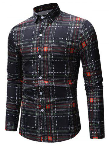Printed Button Up Casual Long Sleeve Shirt