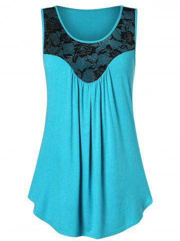 929d9e4bb3 Plus Size Lace Panel Flare Tank Top