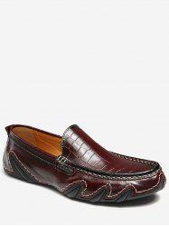 Wave Sewing Faux Leather Slip On Shoes -