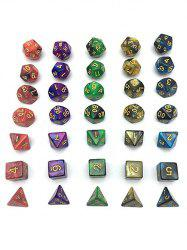 5 x 7-Die Series Table Games Dice with Free Pouches -