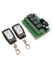 2 Pcs Wireless Remote Switch Control and 433 Mhz Relay Receiver Module -