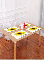 Sunflower Painting Pattern Table Placemat -