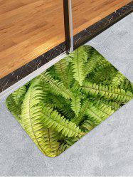 Fern Leaf Pattern Water Absorption Area Rug -