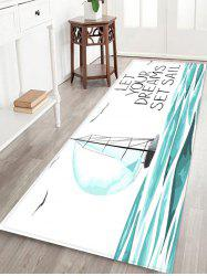 Dreams Sail Pattern Water Absorption Area Rug -