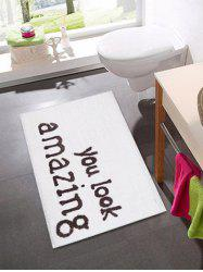 Letters Pattern Water Absorption Area Rug -