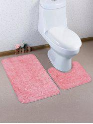 Solid Color Antiskid Toilet Mat Set -