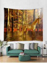 Home Decor Forest Horse Print Tapestry Wall Art -