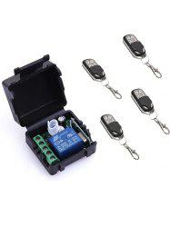 4 Pcs Wireless Remote Switch Control and 1 Channel Mini Relay Receiver Module -