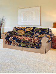 Vintage Leaf Pattern Couch Cover -