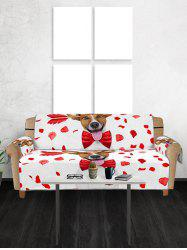Valentines Day Dog Pattern Couch Cover -