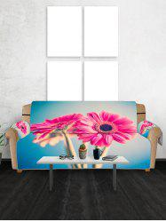 Floral Design Couch Cover -
