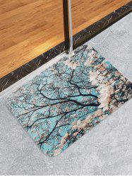 Flower Pattern Decorative Floor Mat -