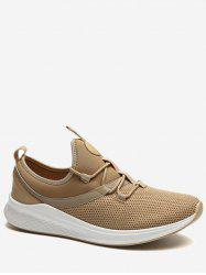 Lace Up Mesh Panel Sneakers -