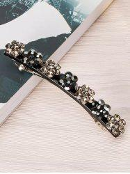 Floral Design Rhinestone Inlaid Hairpin -