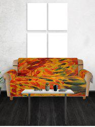 Vintage Print Couch Cover -
