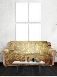 Floral Printed Couch Cover -