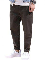 Drawstring Patched High Waisted Joggers Pants -