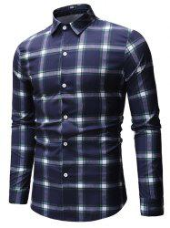 Plaid Printed Long Sleeve Shirt -