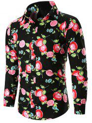 Lemons Print Long Sleeves Casual Shirt -