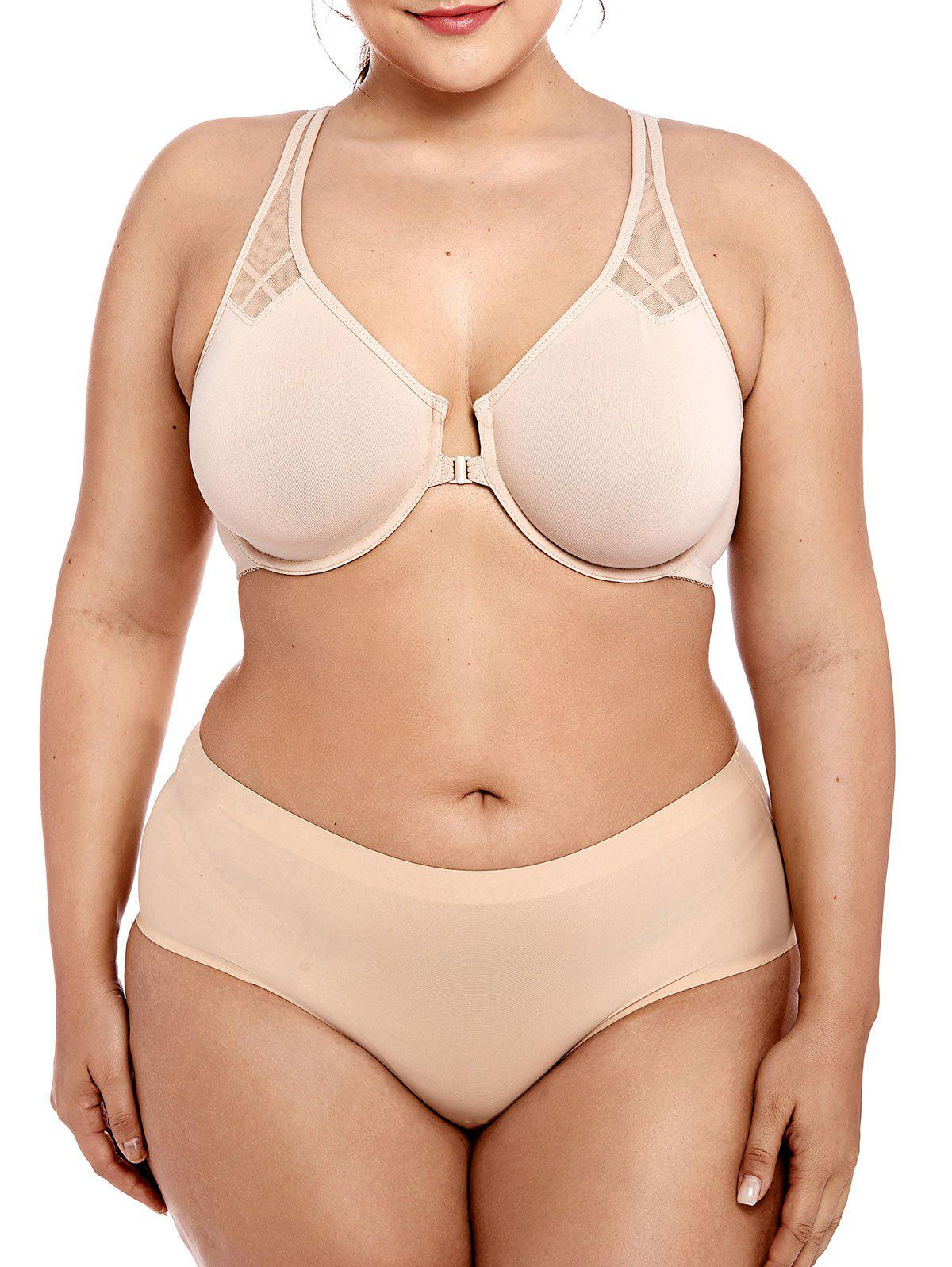 Store Mesh Panel Unlined Plus Size Bra