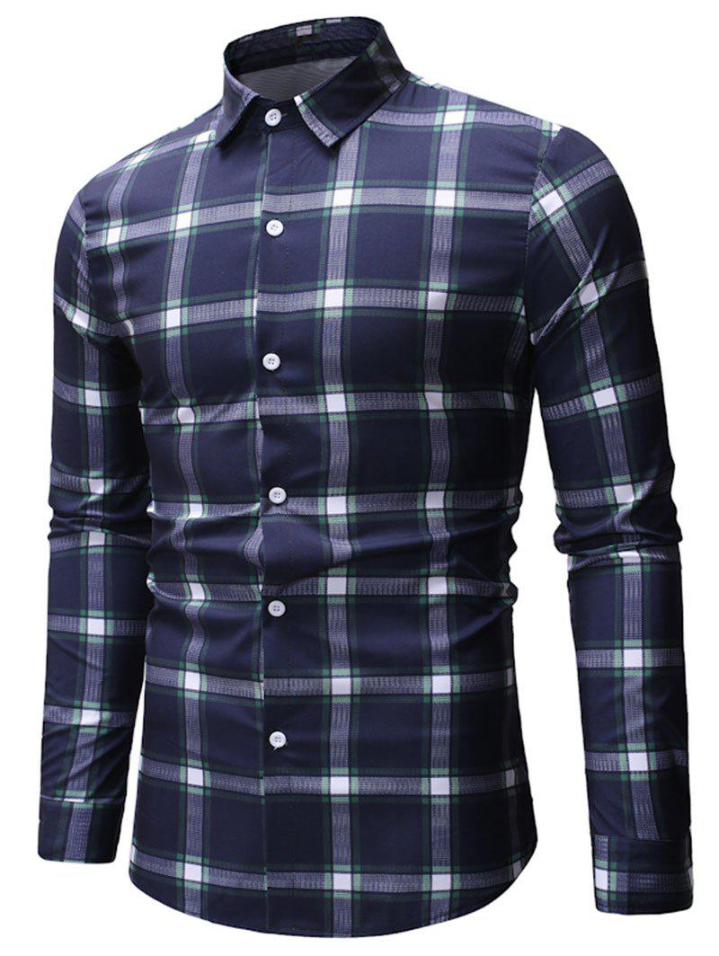 Online Plaid Printed Long Sleeve Shirt