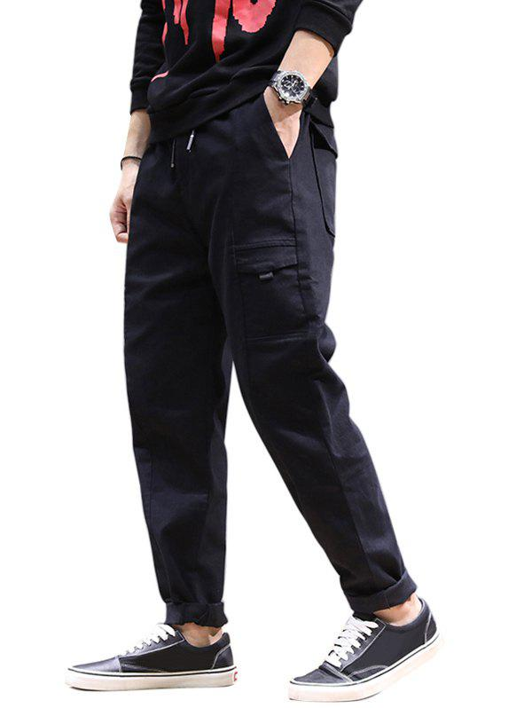 Discount Jogging Drawstring Tapered Pants