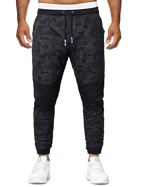 New Camouflage Print Patchworks Drawstring Jogger Pants