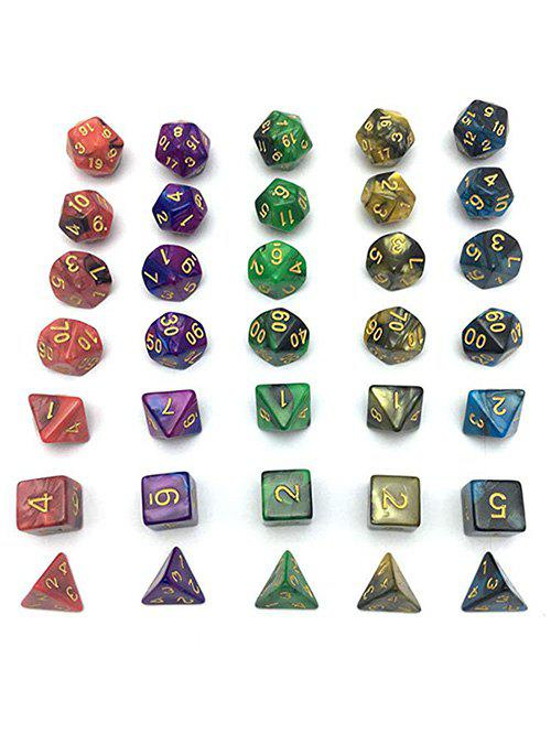 New 5 x 7-Die Series Table Games Dice with Free Pouches