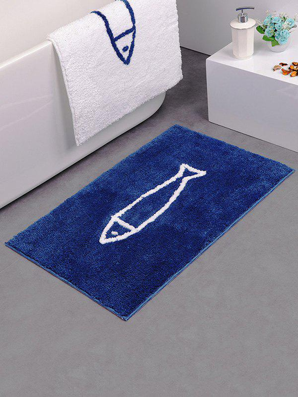 Affordable Cartoon Fish Pattern Water Absorption Fluffy Area Rug