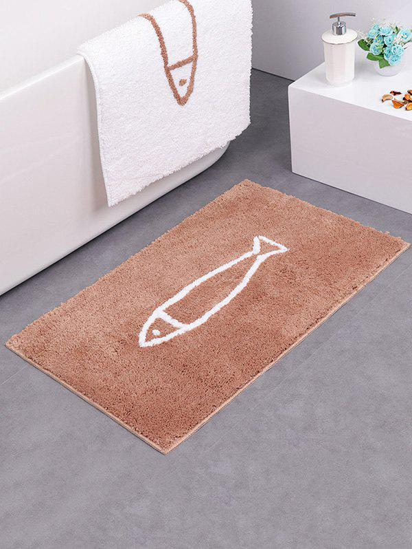 New Cartoon Fish Pattern Water Absorption Fluffy Area Rug