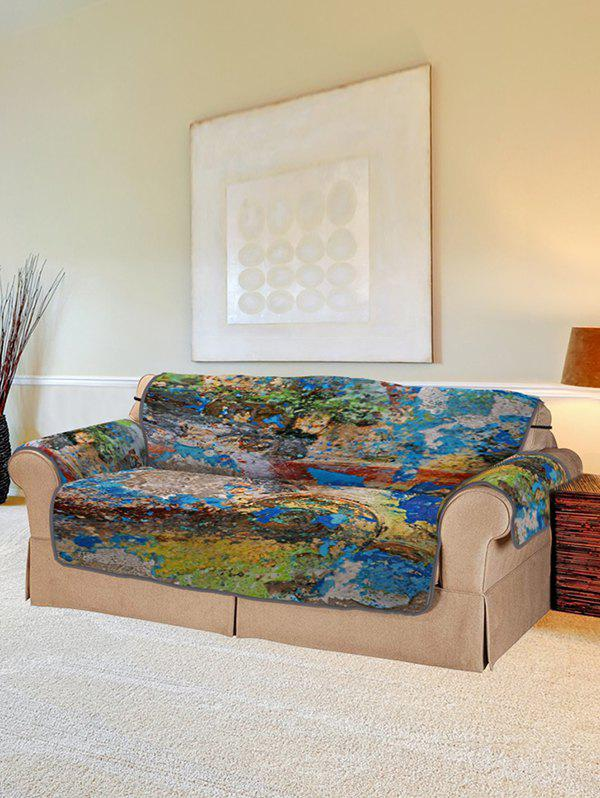 Discount Oil Paint Pattern Couch Cover
