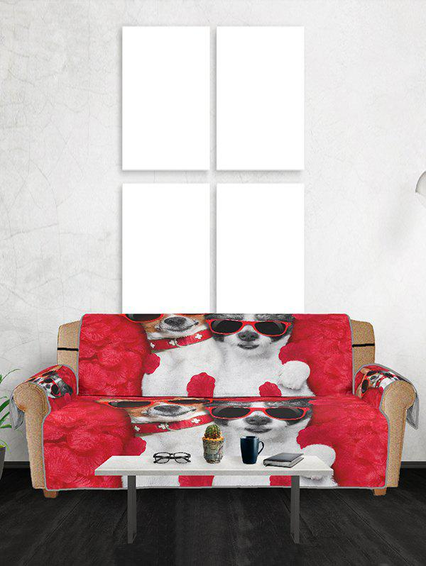 Discount Glasses Dog Pattern Couch Cover