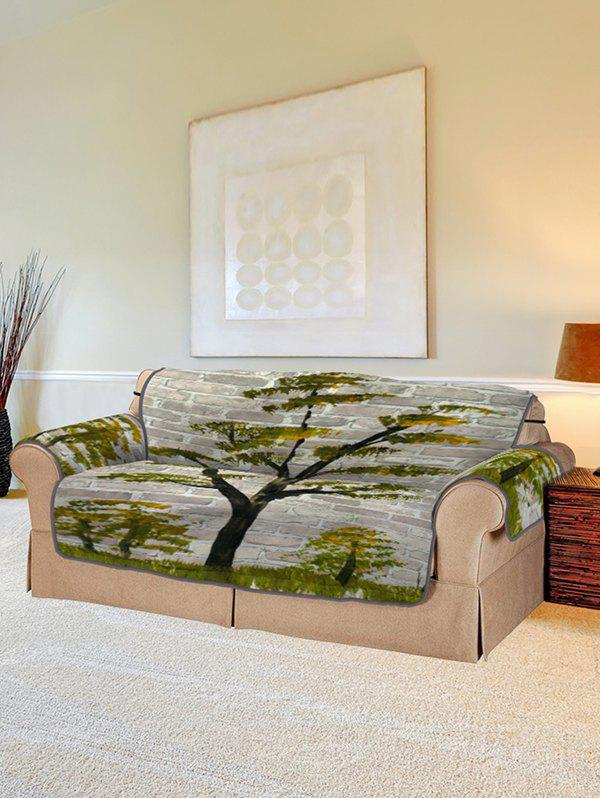 Fashion Tree Brick Wall Pattern Couch Cover