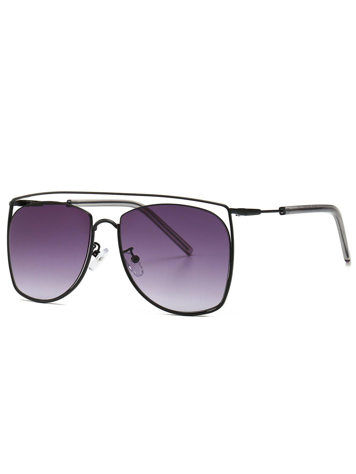 Outfit Stylish Square Metal Frame Sunglasses
