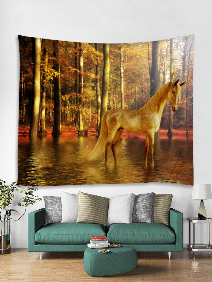 Outfit Home Decor Forest Horse Print Tapestry Wall Art